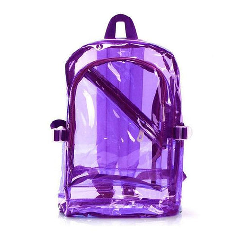 Transparent Clear Backpack - Waterproof School Bag For Kids Backpacks MojoTrend Purple