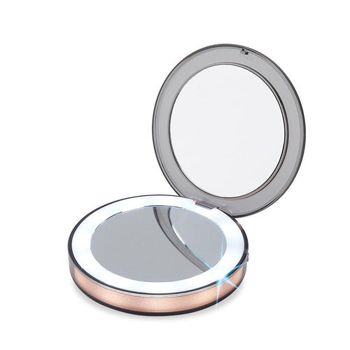 Compact Light Up Mirror For Makeup With LED Lights Compact Makeup Mirror MojoTrend
