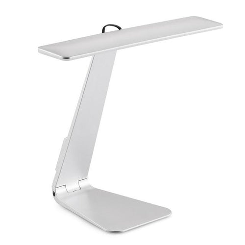 Portable USB LED Table Lamp Rechargeable Folding Ultra-thin Desk Lamp MojoTrend Silver