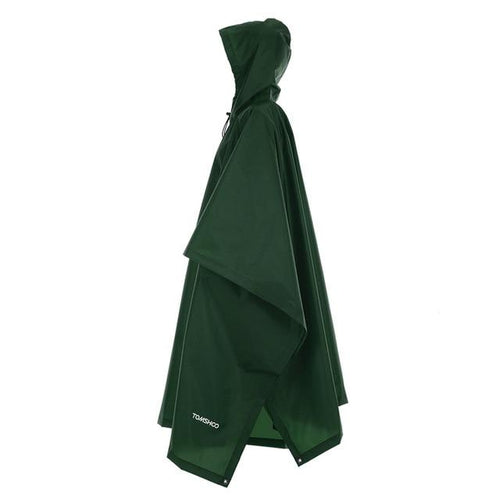 Tomshoo Compact Rain Poncho For Men Women Rain Poncho Tomshoo Army Green