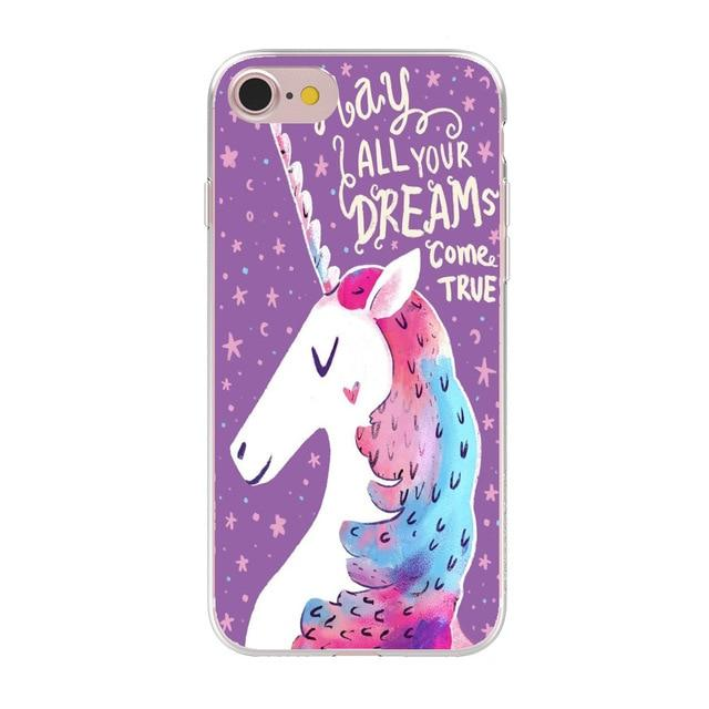 Cute Unicorn Phone Case Phone Case MojoTrend For iPhone 6 6S 1