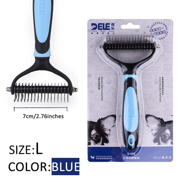 Fur Trimming Grooming Comb for Pets Grooming Comb Limitlessproduct BLUE-L