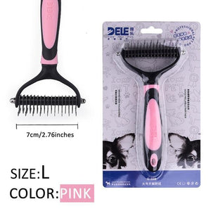 Fur Trimming Grooming Comb for Pets Grooming Comb Limitlessproduct PINK-L