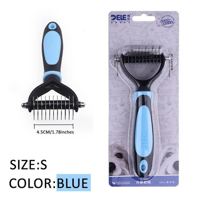 Fur Trimming Grooming Comb for Pets Grooming Comb Limitlessproduct BLUE-S