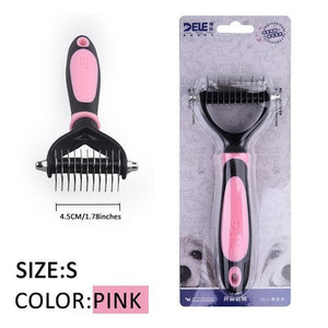 Fur Trimming Grooming Comb for Pets Grooming Comb Limitlessproduct PINK-S