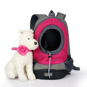 Pet Dog Carrier Backpack For Traveling Front Back Use Pet Carrier MojoTrend Pink Large