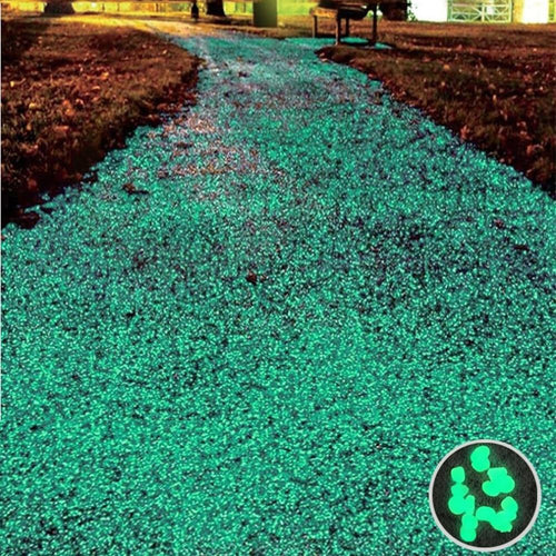 100Pcs Glow In The Dark Gravel Pebbles - Luminous Glowing Garden Rocks
