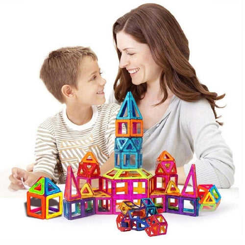100pcs Magnetic Building Blocks Tiles Toy For Kids Construction Set