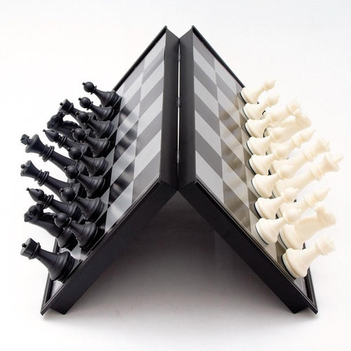 Magnetic Chess Board Set Game With Folding Travel Case Chess board game MojoTrend