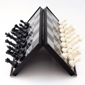 Magnetic Chess Board Set Game With Folding Travel Case