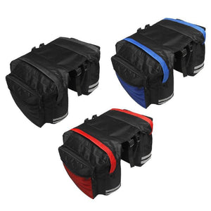 Double Side Bike Saddle Bags Rear Rack Seat Bicycle Trunk Mount Bike Saddle Bags MojoTrend