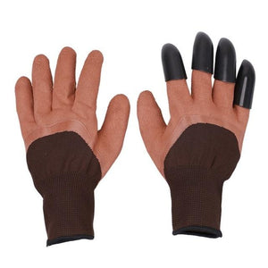Easy Gardening Gloves With Claws Gardening Gloves MojoTrend Brown