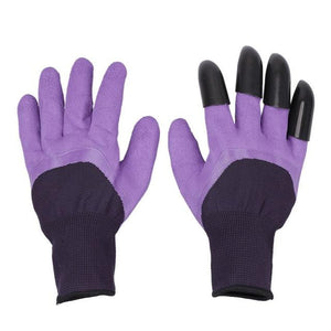 Easy Gardening Gloves With Claws Gardening Gloves MojoTrend Purple