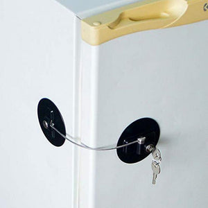 Refrigerator Lock With Key - For Kids and Adults Refrigerator Lock MojoTrend