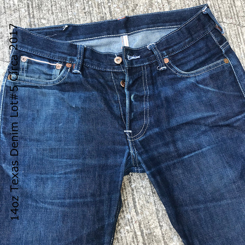 14oz Texas Denim Lot#5 Circa 2017