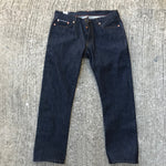 "13.5oz Indigo Cone Mills Pre-Made ""100's"" 5 Pocket 36W 32L 901 Slim Fit"