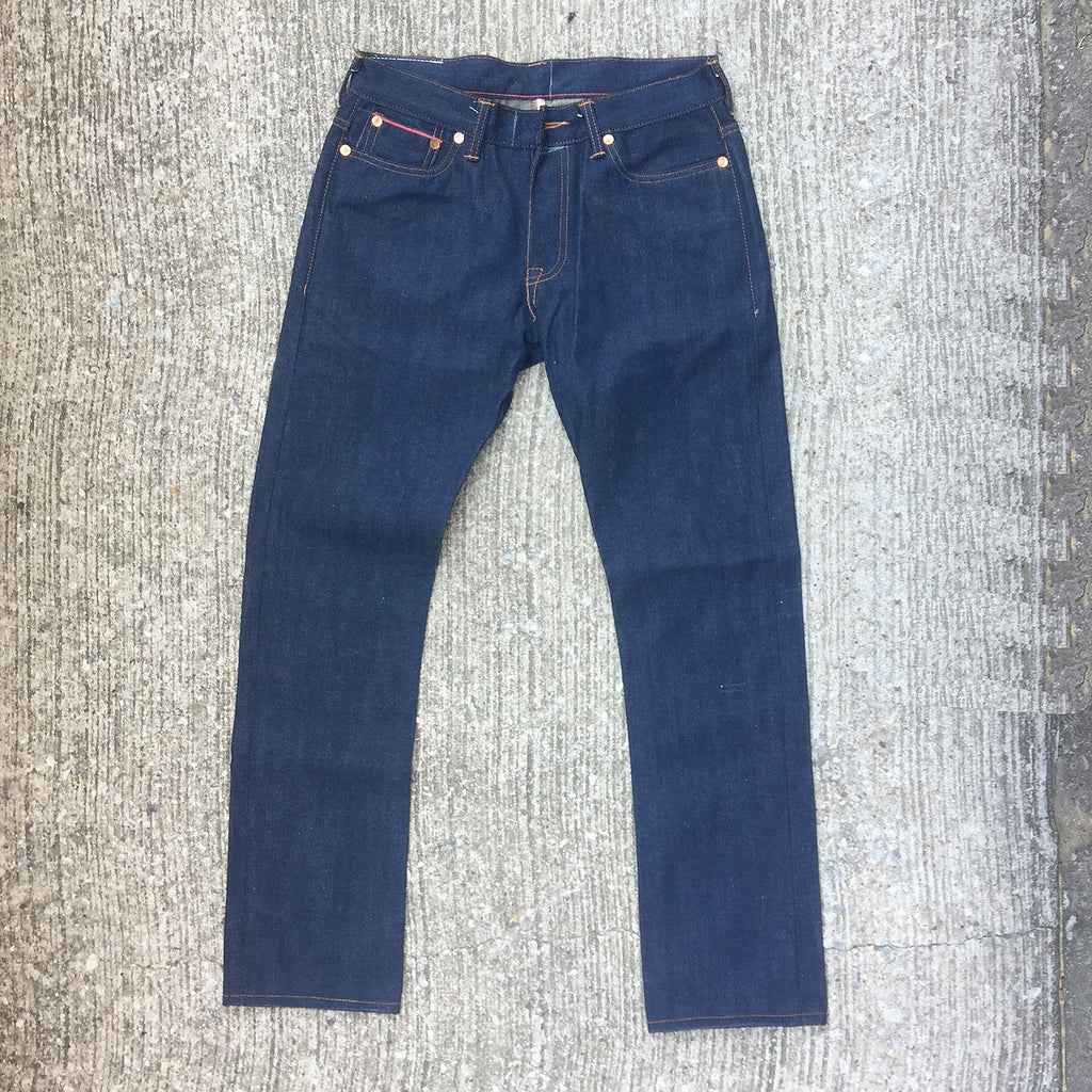 OPSTK 12.5oz Japanese Rich Indigo Cotton/Hemp 5 Pocket 32W X 33L 901 Slim Fit