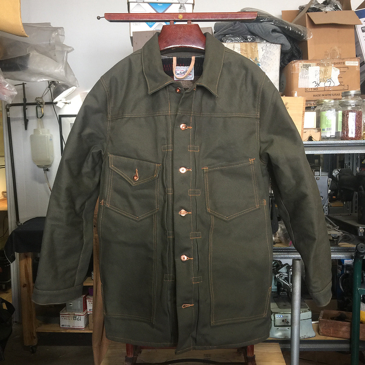 "OPSTK ""PABLO""  {18oz DUCK CANVAS} OLIVE 2XL Slim Fit"
