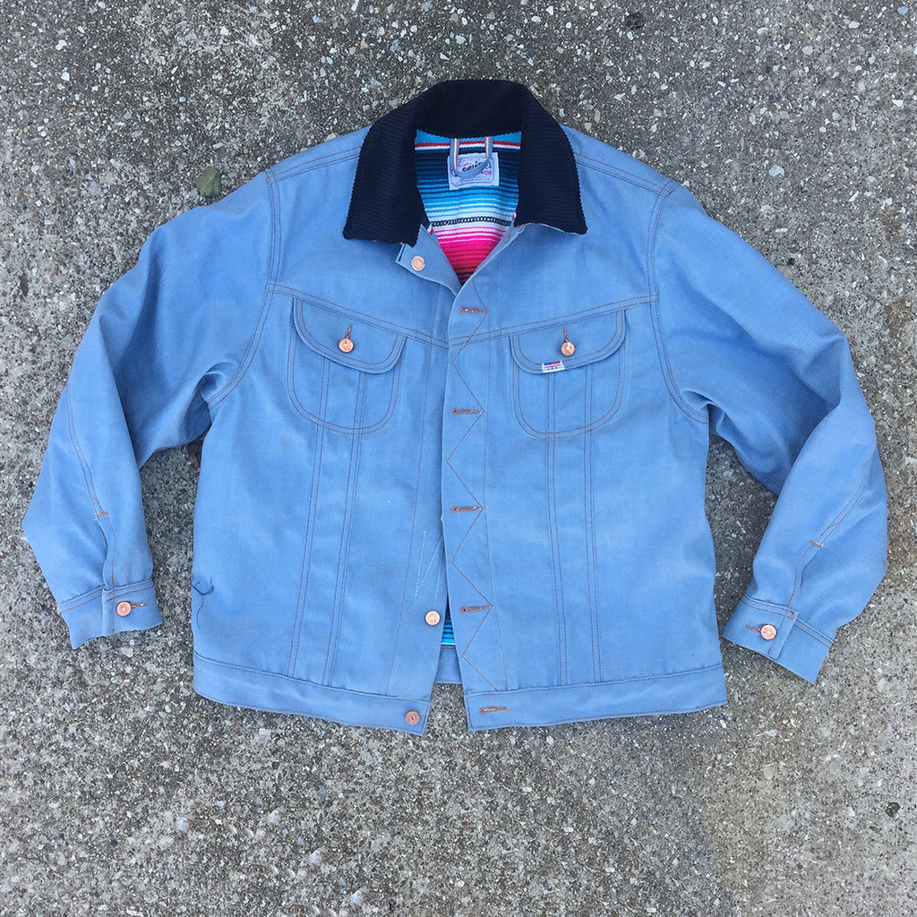 14oz Japanese 70's Vintage Oshkosh Blue LS JACKET