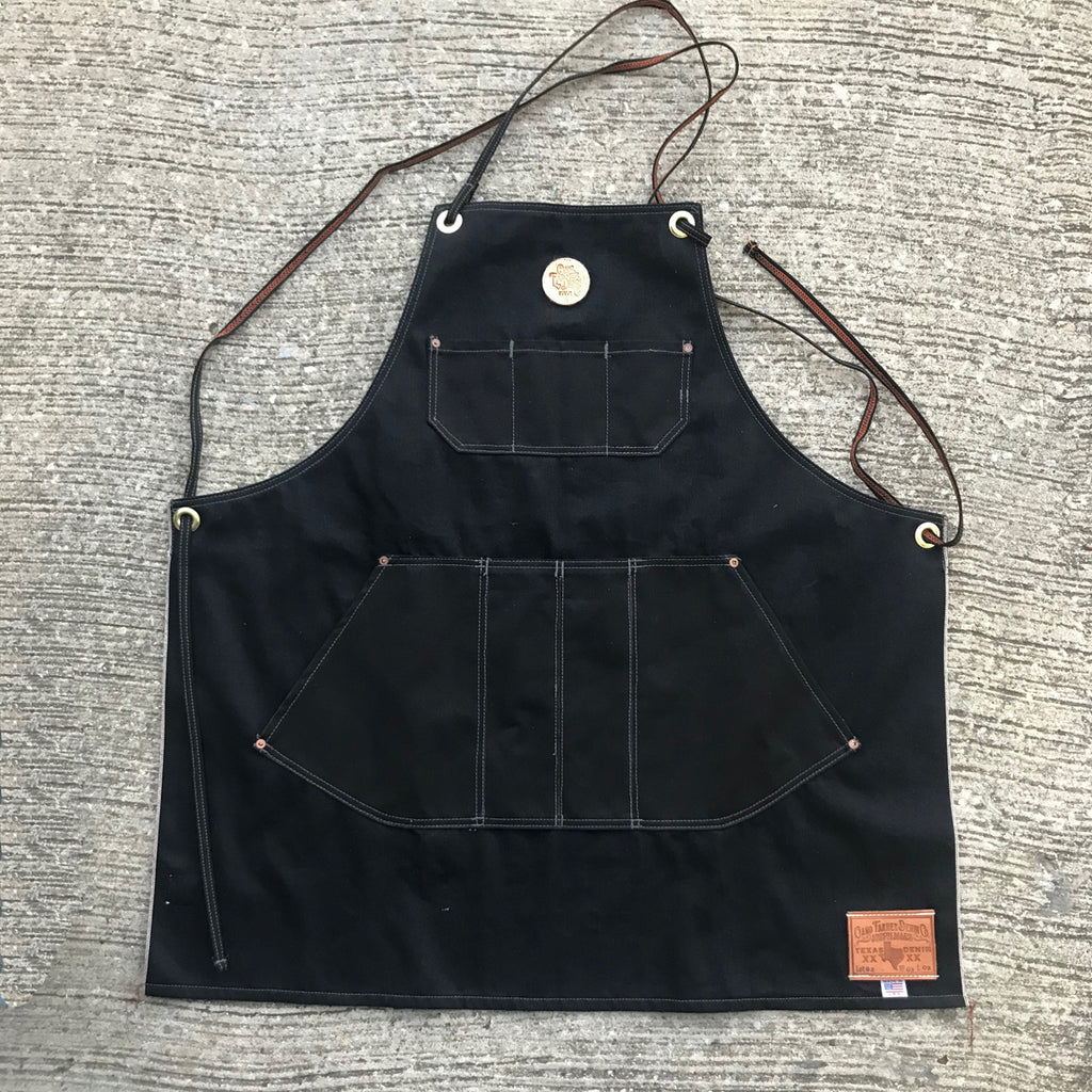 "OPSTK 14oz Black ""TEXAS"" Selvage Denim Apron"