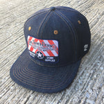 14oz TEXAS Denim Snapback HAT Embroidery Patch