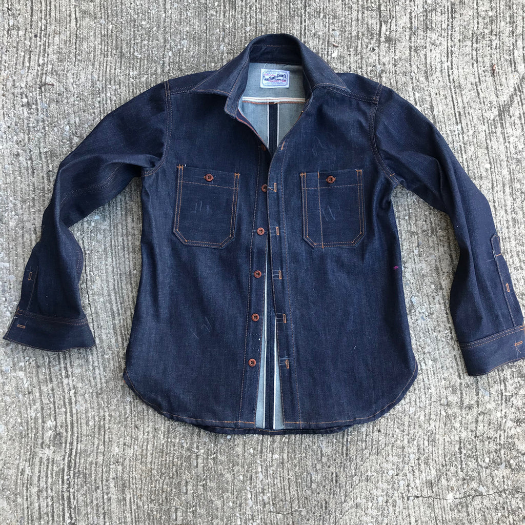 OPSTK 14oz TEXAS Denim Lot#12 Red Selvage WORKSHIRT LRG