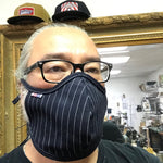 "CFDCo ""Baine"" Face Mask w/ pocket filter 100% Cotton 13.5oz Japanese Indigo/Indigo WABASH White Selvage"
