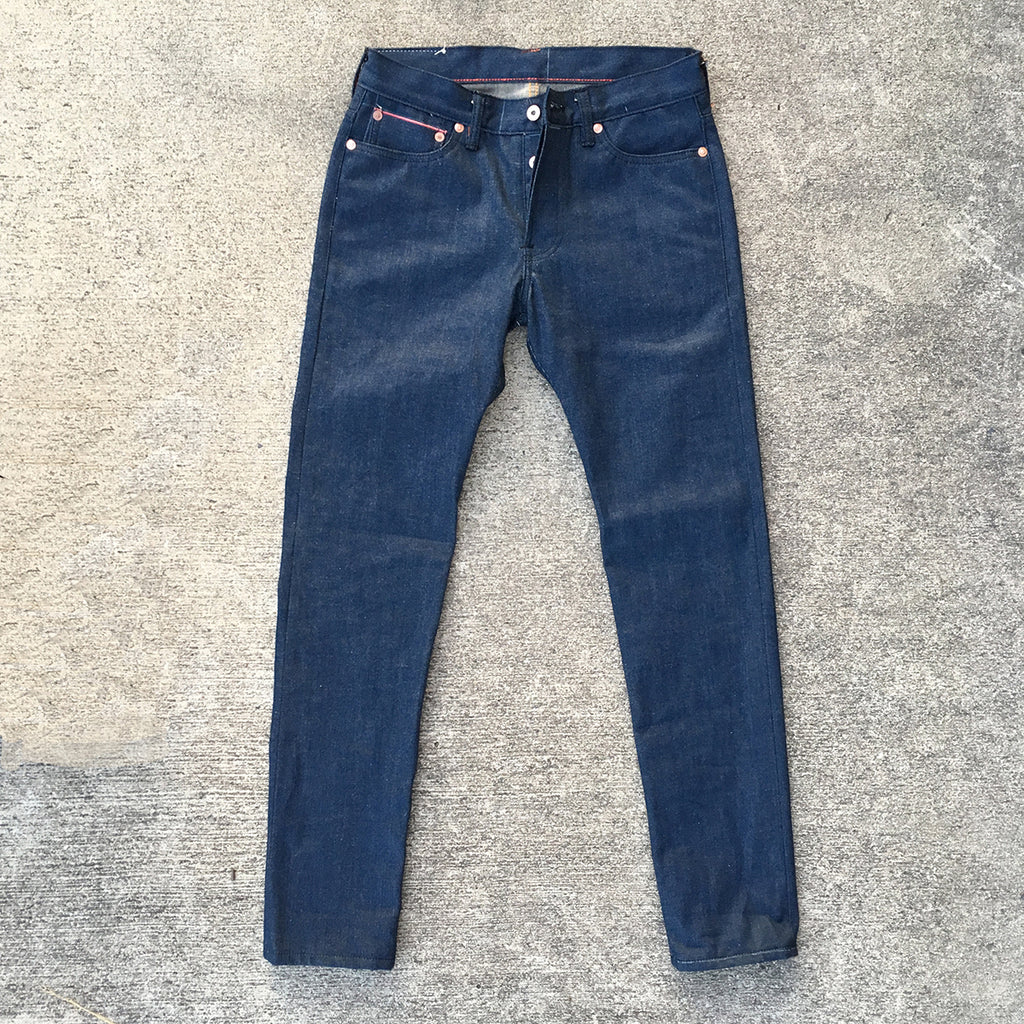 12.5oz OPSTK Japanese Rich Indigo Cotton/Hemp 5 Pocket 30W 33L 901 Slim Fit MODIFY