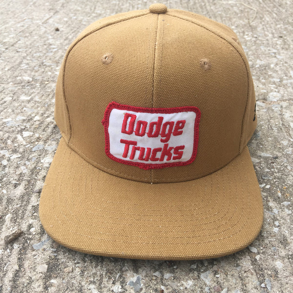 "VINTAGE 1970's ""Dodge Trucks"" Patch - 12oz USA Duck Canvas Snapback"