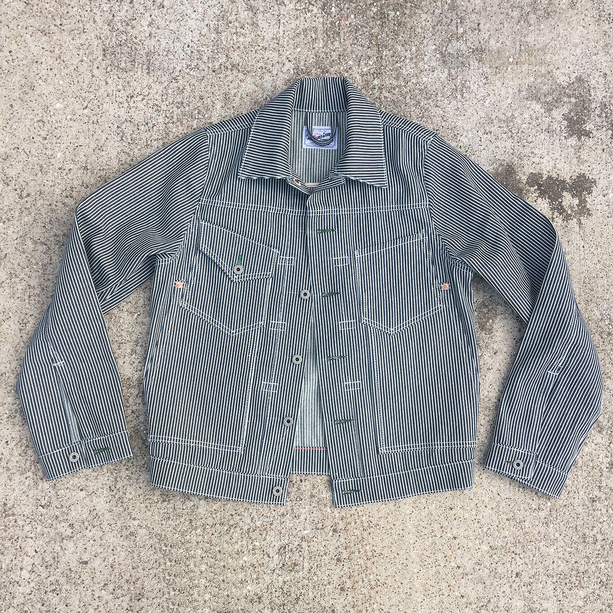 10oz USA Denim Hickory Stripe Fieldhand Jacket