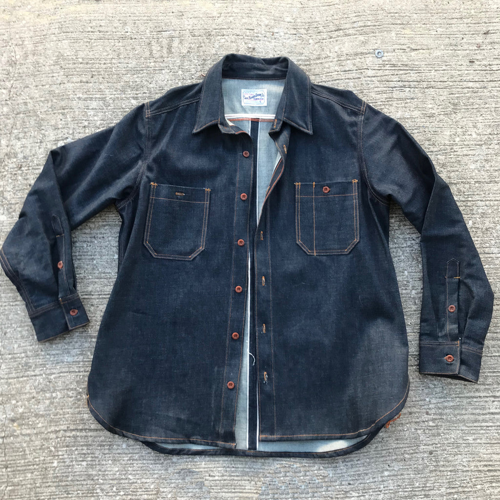 OPSTK 14oz TEXAS Denim Lot#12 Red Selvage WORKSHIRT 2XL