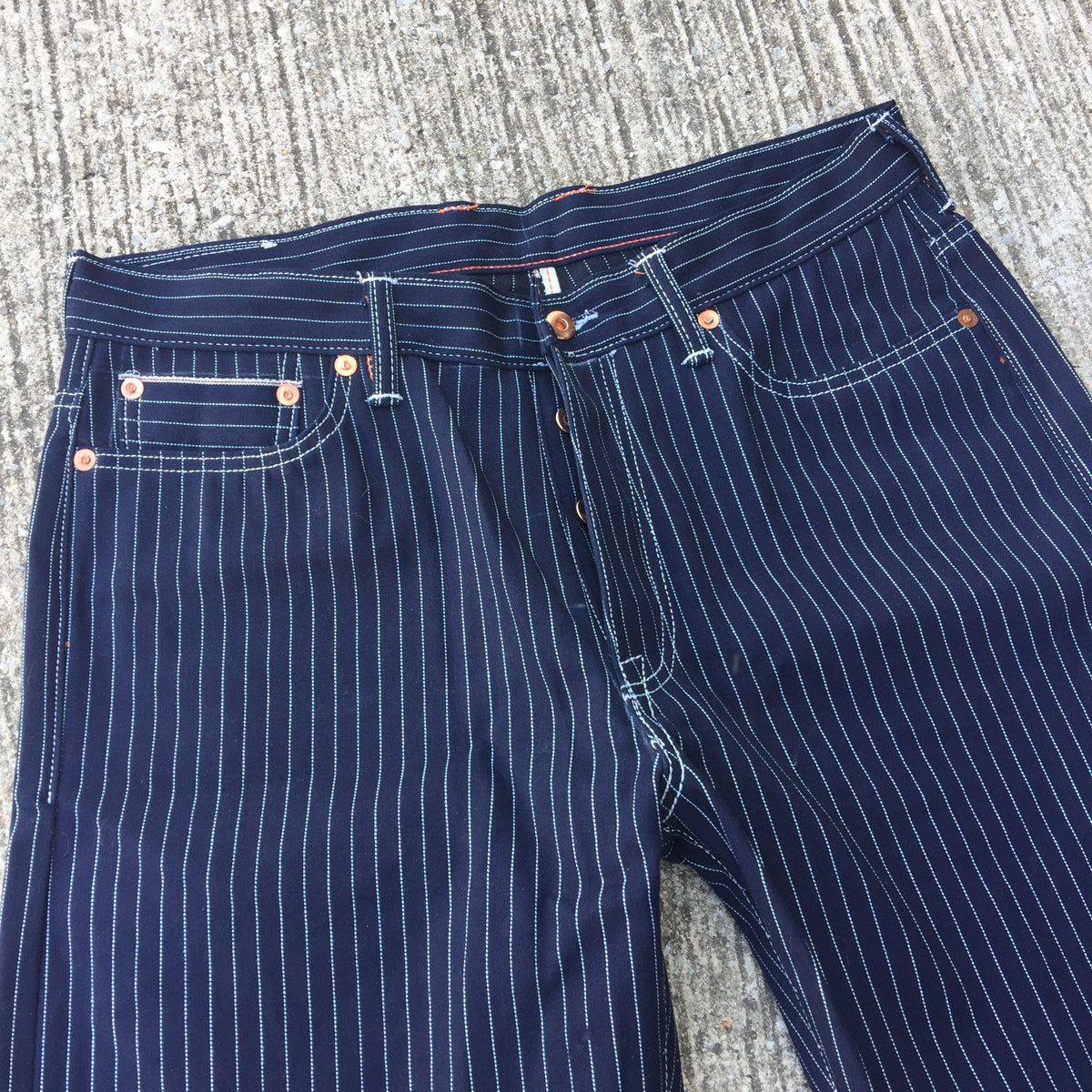 OPSTK 13.5oz Japanese Indigo/Indigo WABASH White Selvage 5 Pocket Version 35W X 31L 905 Reg Fit