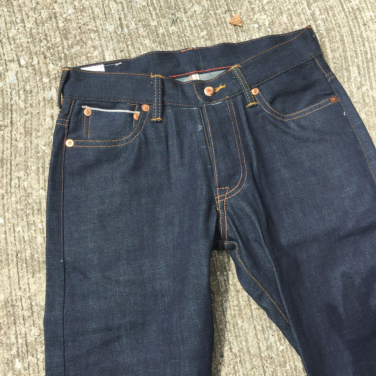 14oz OPSTK TEXAS Lot#12 Indigo 5 Pocket 28W 38L 901 SLIM Fit