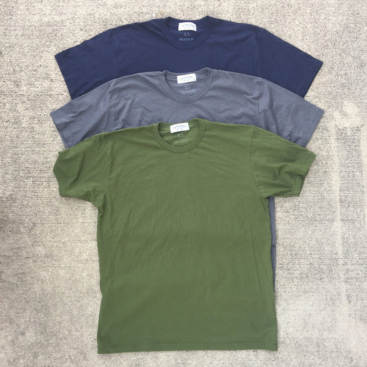 "4.4oz TEXAS MADE Tee CREW Neck 3 Pack Special ""PICK YOUR OWN 3 COLORS"""