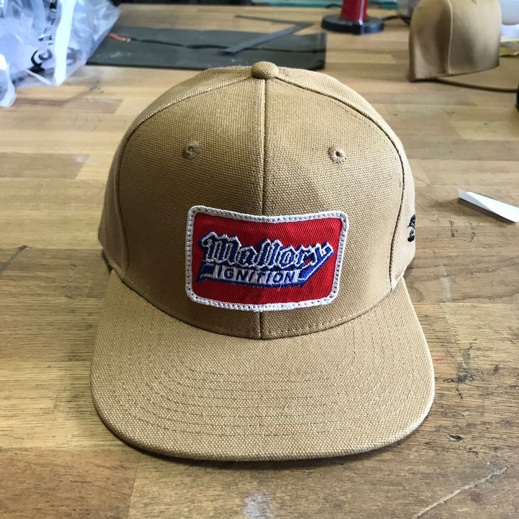 "VINTAGE 1970's ""Mallory Ignition"" Patch - 15oz USA Duck Canvas Snapback"