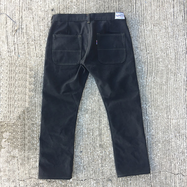 18oz Duck Canvas Black FIELD HAND Chino [ Back Patch Pockets ]