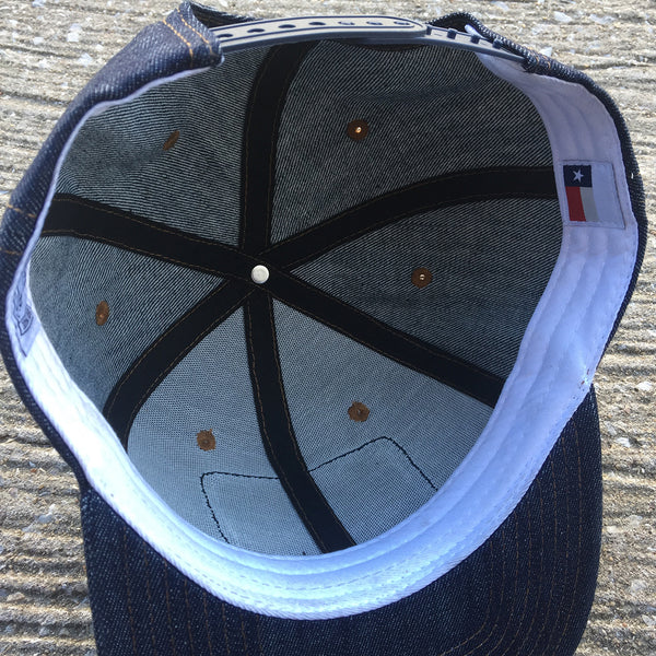 14oz TEXAS Denim Snapback HAT Blank