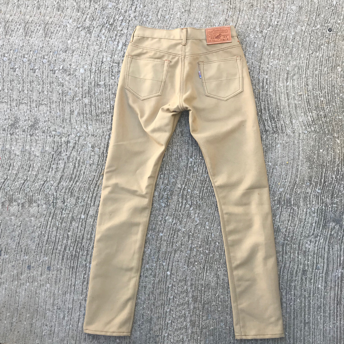 12oz Duck Canvas Khaki 5 POCKET Version