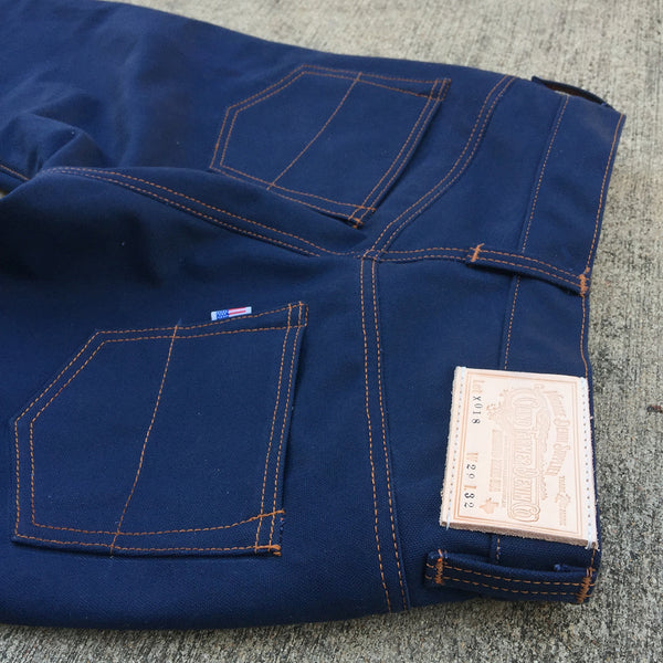 18oz Duck Canvas Navy 5 POCKET Version