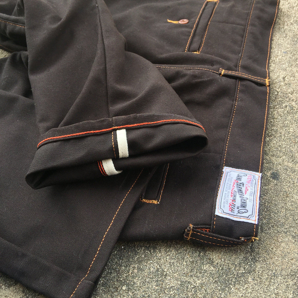 12oz Duck Canvas Dark Brown CHINO Version