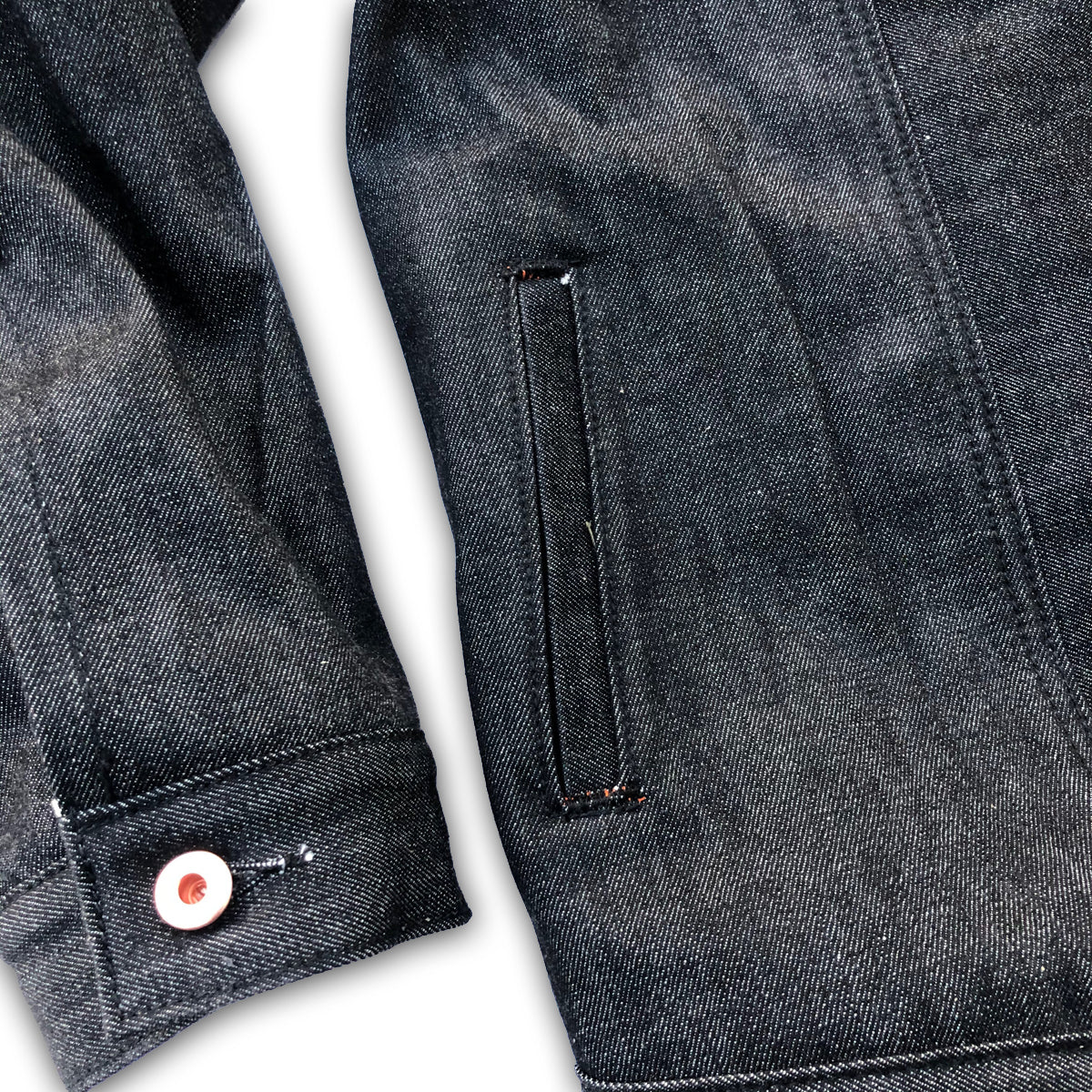 14oz Black Cone Mills White Selvage Type III Jacket w/ Club Collar {Limited Quantities}