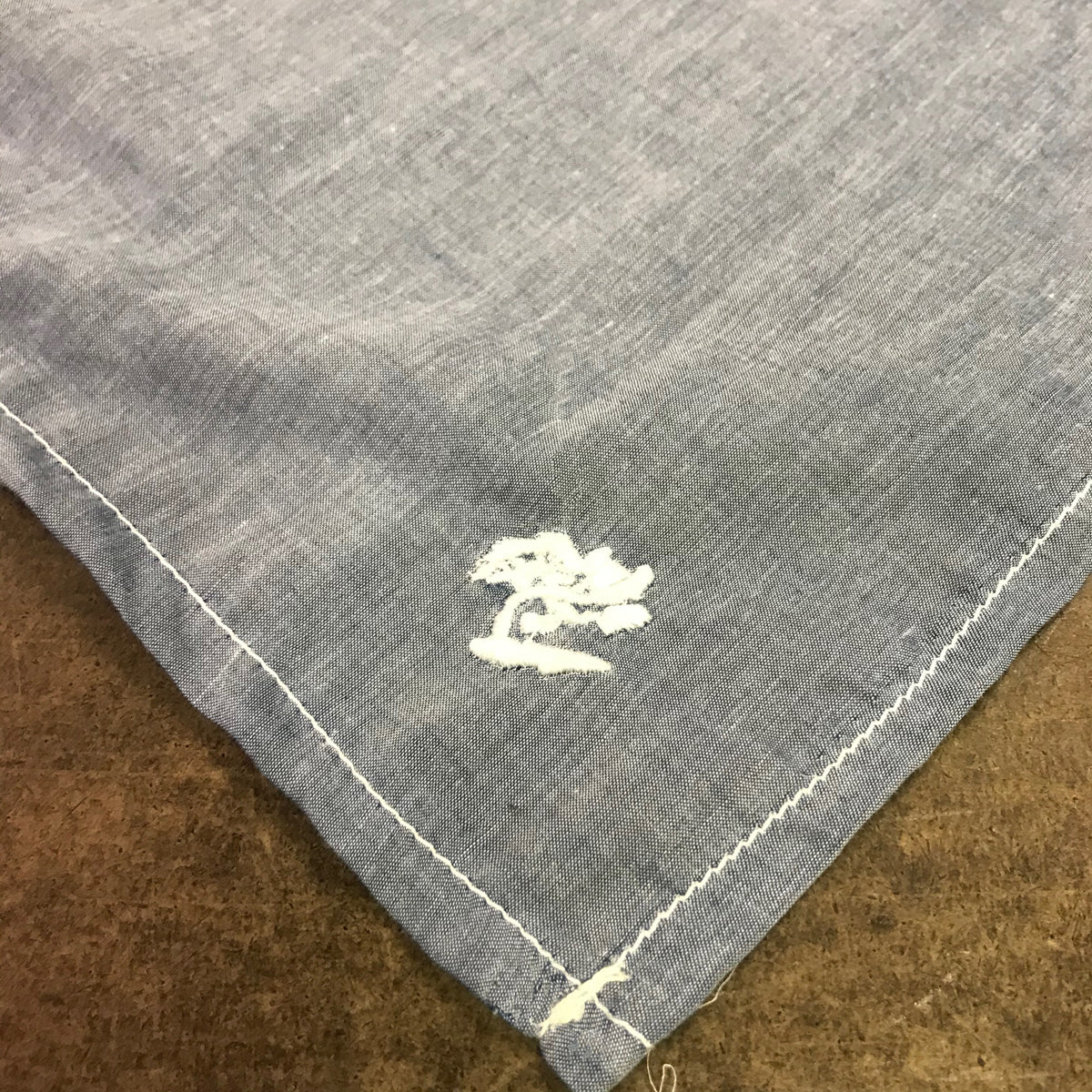 100% Cotton Handkerchief Chambray Large 27.5 x 27.5 Embroidery
