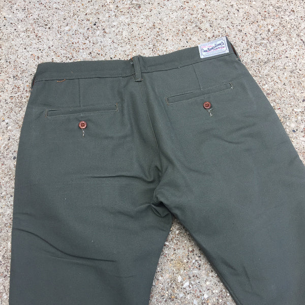 OPSTK 12oz Duck Canvas Moss Green Chino 33W x 34L 901 Slim Fit