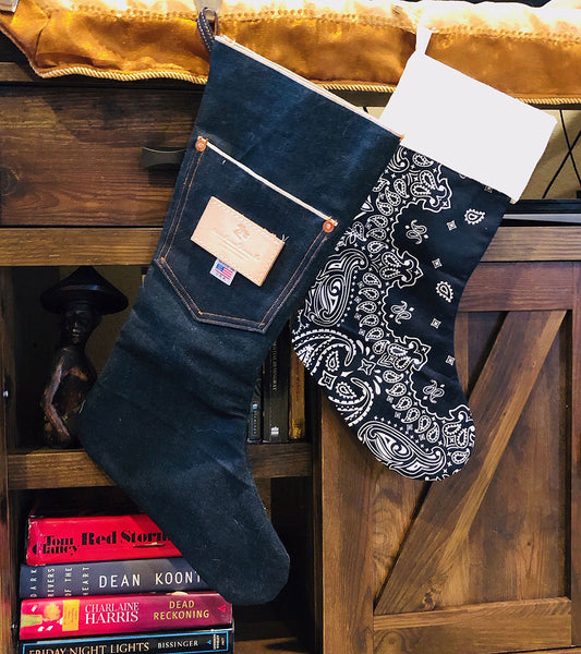 CFDCo Christmas Stocking CONE Mills Selvage Denim