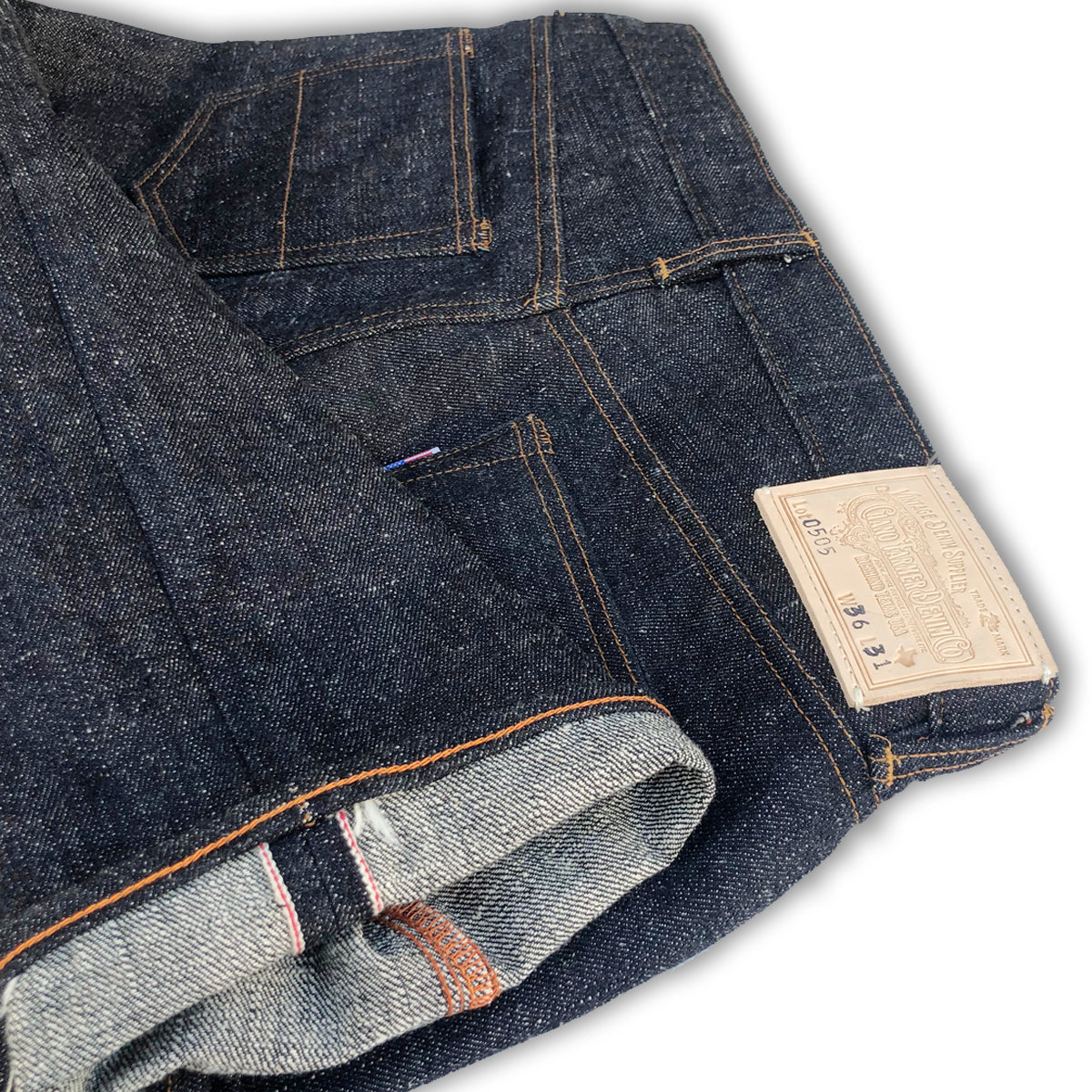 "16oz Japanese INDIGO 'Secret Denim 0505"" SELVAGE 5 POCKET VERSION"