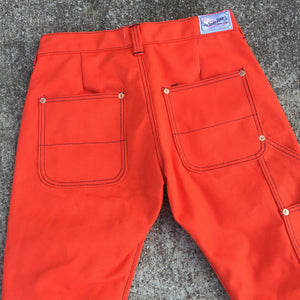 18oz Duck Canvas TEXAS Orange FIELD HAND Chino [ Back Patch Pockets ]