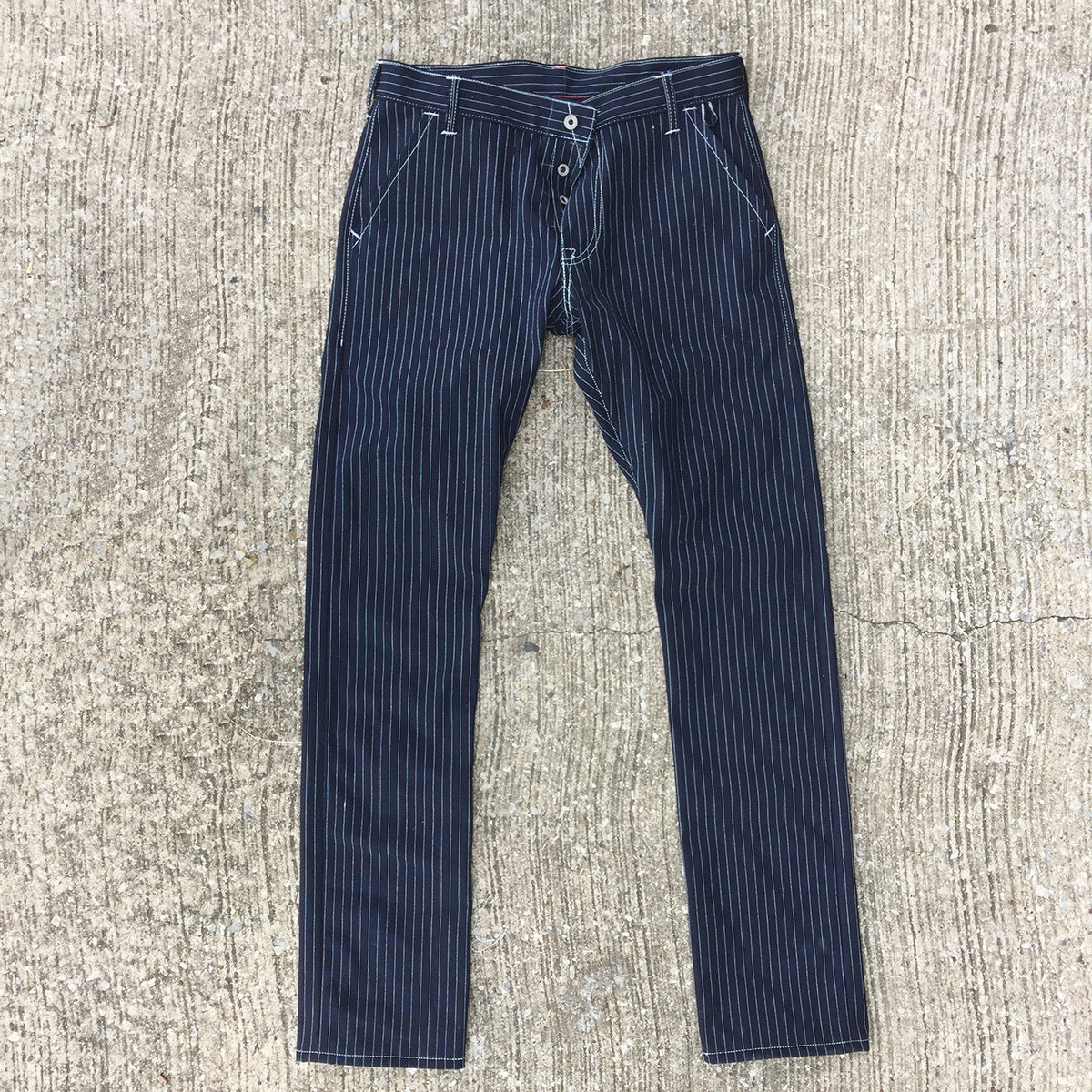 13.5oz Japanese Indigo/Indigo WABASH White Selvage CHINO VERSION