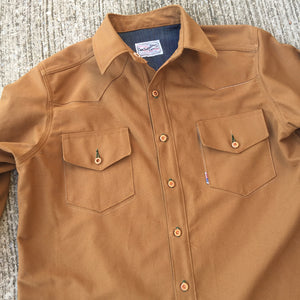 12oz USA Duck Canvas Selvage Ochre Ranch Style WORKSHIRT