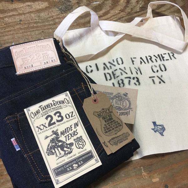 887eac3a 23oz Heavy Japanese Indigo Pink Selvage – CFDCo.