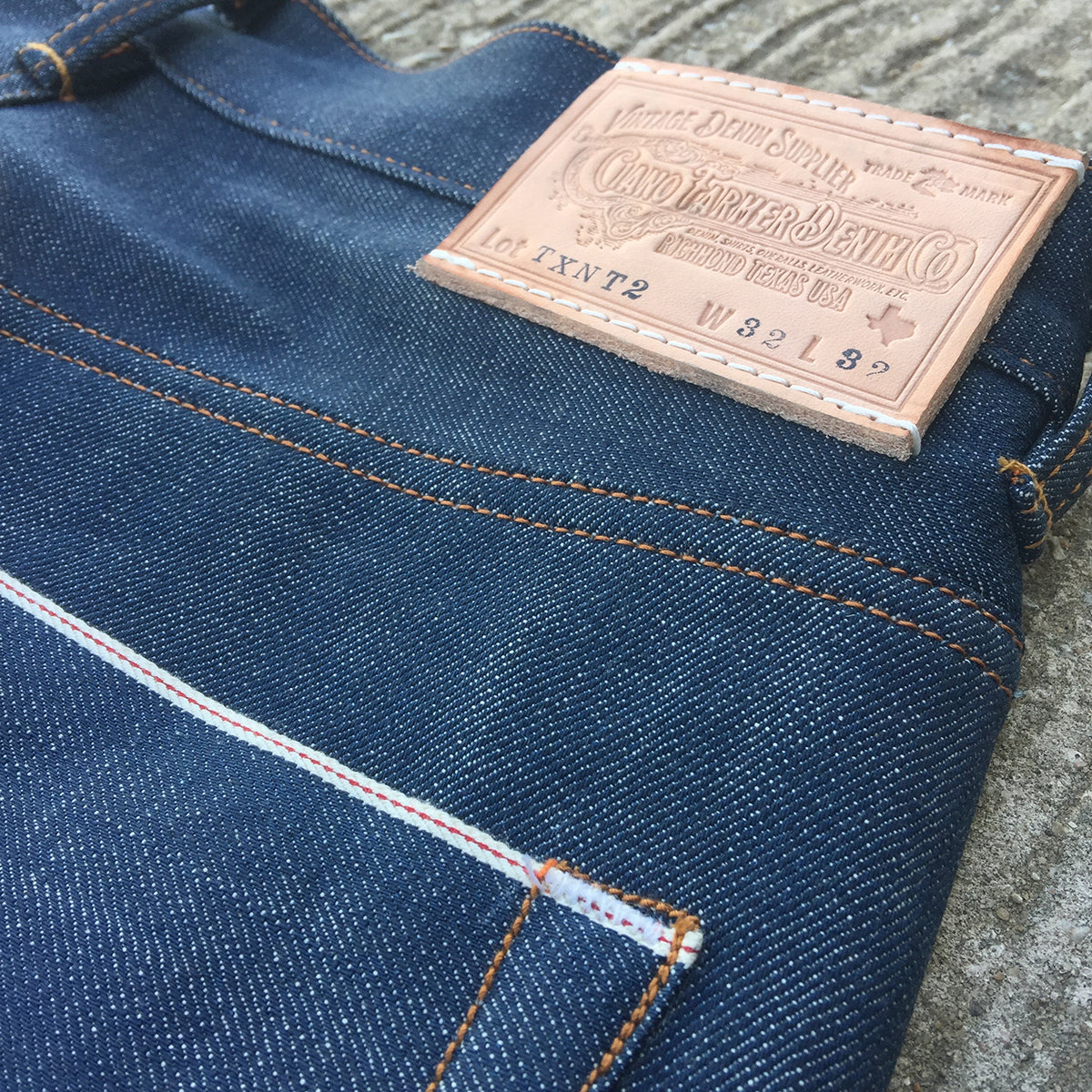 "13.5oz TEXAS Organic Denim ""NATURAL"" Lot#2 Red Selvage"